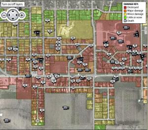 Des Moines Register tornado map